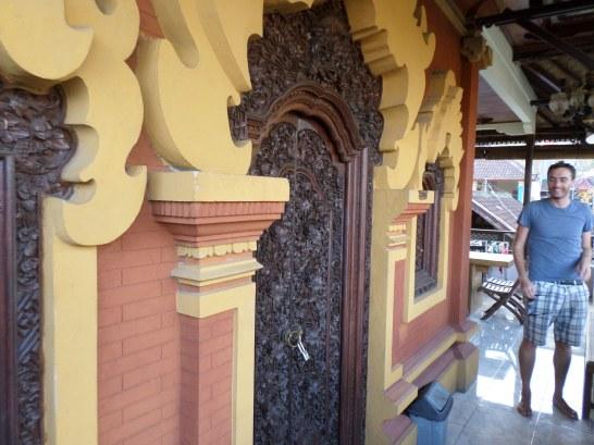 Beautifully carved wooden door