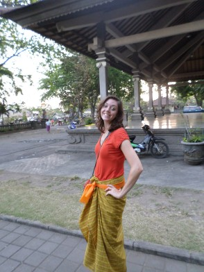 Covering my legs at the temple